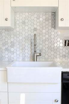 how to install a marble hexagon tile backsplash kitchen