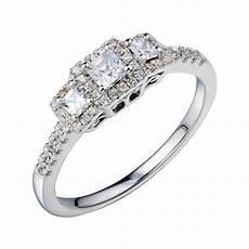 jcpenney 1 2 ct t w vintage diamond engagement