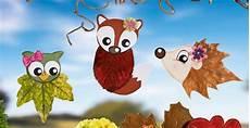 Herbst Basteln Kinder Fenster - tiere aus bl 228 ttern basteln f 252 rs fenster kindergarten