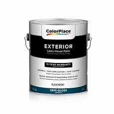 colorplace black semigloss exterior paint 1g walmart com