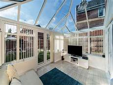 conservatory with door leading to the garden radiator wall lights wall lights led bathroom