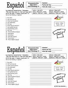 demonstrative adjectives and clothing worksheet 1