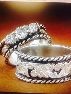western wedding ring sets western wedding set fanning jewelry western wedding rings wedding