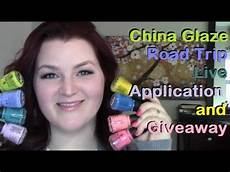 application road trip china glaze road trip collection live application and giveaway closed