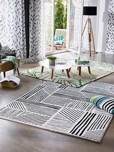 tapis g 233 om 233 trique noir et blanc graphics esprit home