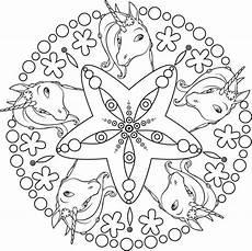 Einhorn Ausmalbild Mandala Ausmalbilder Mandala Einhorn 08 Ausmalbilder