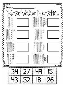 easy place value worksheets for kindergarten 5100 grade math unit 9 place value grade math 1st grade math place values