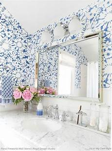 small flower wallpaper for wall modern floral wall stencils painting diy flower