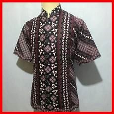 jual baju kemeja batik pria cowok laki kerah koko exclusive bk8 di lapak javabatika javabatika