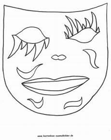 malvorlagen ausmalbilder faschingsmaske ausmalbilder