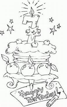 Malvorlagen Age Cake картички за рожден ден за оцветяване картинки за