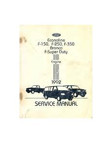 auto repair manual online 1992 ford f series parking system 1992 ford bronco f 150 f 250 f 350 econoline factory engine service manual softcover