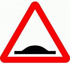 Dot557 1 Road Humps Ahead Triangular Warning Signs