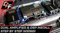 car audio wiring dual lifier and dsp install youtube