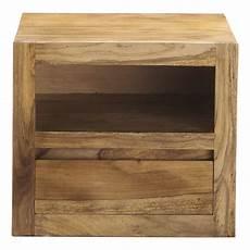 comodino legno comodino in massello di legno di sheesham con cassetto