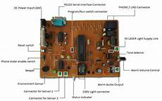 Programmable Home Security Alarm System Part 1 Schematic