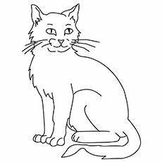Katze Sitzend Malvorlage Top 30 Free Printable Cat Coloring Pages For In 2020