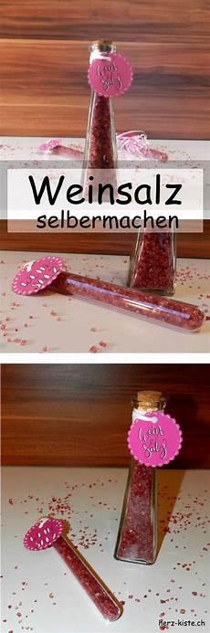 Geschenke Weihnachten Selber Machen - rezept weinsalz selbermachen herz kiste lettering diy