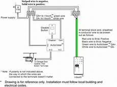 garage door opener safety switch wiring diagram wiring