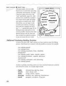 additional vocabulary building activities worksheet for