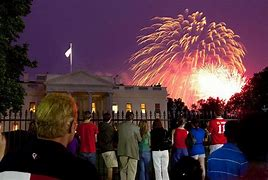 Image result for white house fireworks display over the potomac river