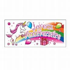 banderole anniversaire licorne x24 cerf dellier