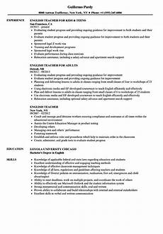 english teacher resume sles velvet