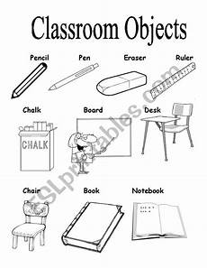worksheets classroom objects 18220 classroom objects esl worksheet by brenes cyn
