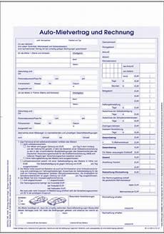 kfz mietvertrag und rechnung kaufen im verlag