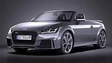 audi tt rs roadster 2017 3d model max obj 3ds fbx c4d lwo