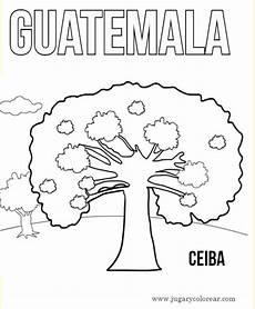 dibujo de los simbolos naturales para colorear simbolos patrios de guatemala para colorear