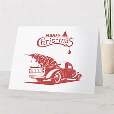 christmas and happy new year truck thank you card zazzle com