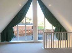 picking out window coverings for the bedroom voile pleat curtain for a triangular window