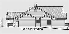 side view house plans ranch house plan featuring gable roofs