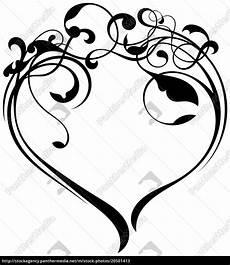 Malvorlagen Herz Xing Herz Ornament Verzierung Lizenzfreies Bild