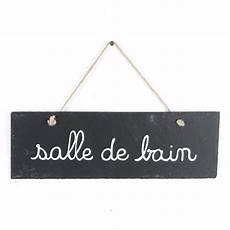 Plaque Salle De Bain Plaque De Porte Ardoise Quot Salle De Bain Quot Gris