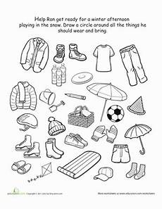 winter weather worksheets grade 14713 how to dress for winter worksheet education