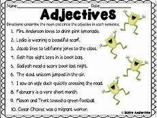 adjectives worksheet by teachers pay teachers