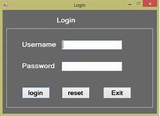 live software project coding and designing login form without database in c