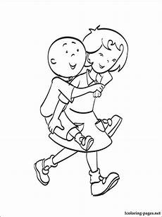 caillou coloring page coloring pages