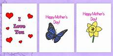 mothers day card templates a4 s day blank card