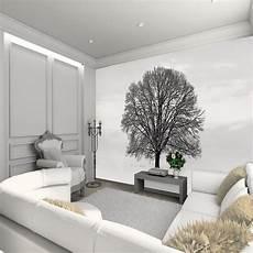 1 Wall Wallpaper Mural Tree Snowy Field 3 15m X 2 32m