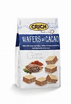 crema ai wafer wafer alla crema di cacao 125 g crich crich nuova industria biscotti spa mybusinesscibus