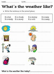 weather worksheets primary school 14649 weather teaching resource label the weather picture as a second language