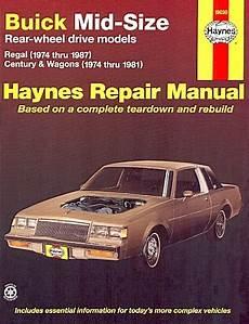 vehicle repair manual 1985 buick lesabre regenerative braking 1974 1987 buick regal century wagon repair manual haynes