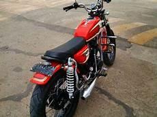 Jual Motor Modifikasi Murah by Honda Cb 100 Merah 1973 Orisinil Modif Jual Motor