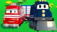 Truck A Vlak Anim 225 K Z Prostřed 237 Staveniště S Auty