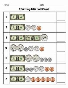 money worksheets up to 1 00 2353 counting bills and coins by second grade by tpt