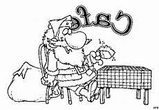 weihnachtsmann sitzt im cafe ausmalbild malvorlage comics