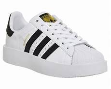 adidas superstar bold white black junior